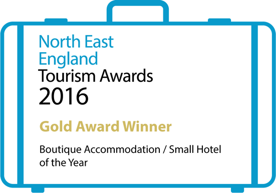 North East England Tourism Awards 2016 Gold Award Winner